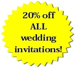 20% off all wedding invitations!